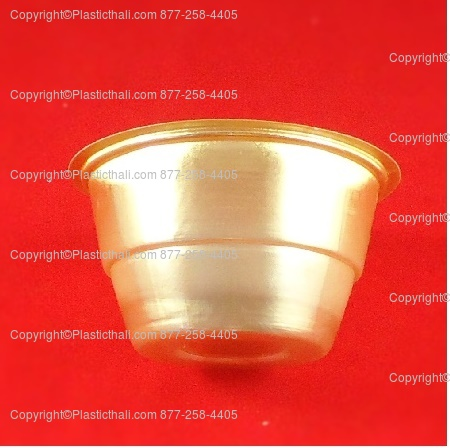 6 oz gold plastic bowl