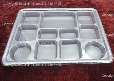 silver Eleven compartment   plates