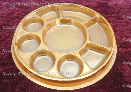Nine Compartment Plastic Thali Plastic Plate With