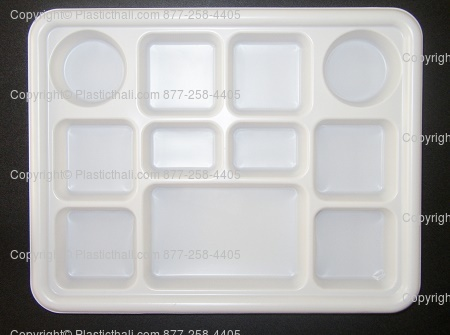 11 Compartment Plastic PlasticThali™ & PlasticThali: Plastic plate with compartments to suit Indian food