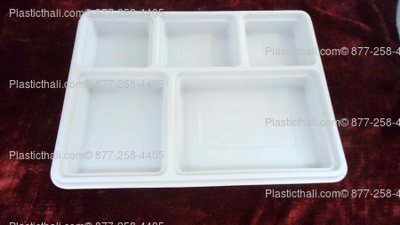 5 Compartment Plates with lids & 5 Compartment Disposable Plastic plate
