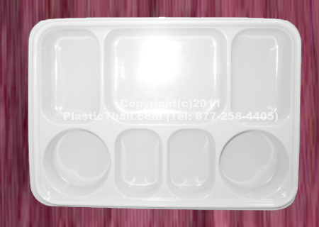 7 Compartment Plate & PlasticThali: Plastic plate with compartments to suit Indian food